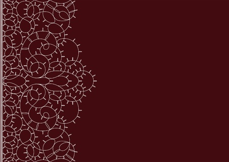Seamless lacy background. Space for your text  Vector