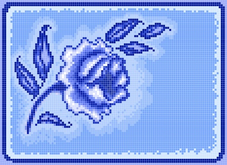 Square pixel frost background, embroidery pattern Vector