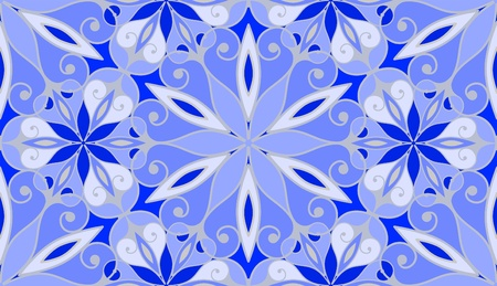 arabesque wallpaper: Frosty window glass, seamless pattern