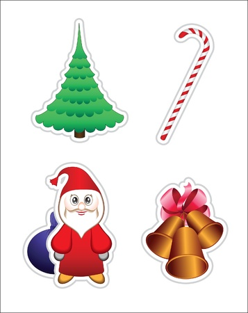 Set of Christmas icons, elements for design Stock Vector - 11225883