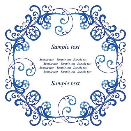 Blue vignette on white background Stock Vector - 11225892