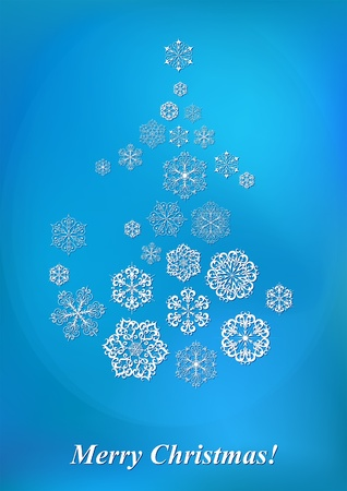 Christmas background with snowflakes for winter design Stock Vector - 11386737