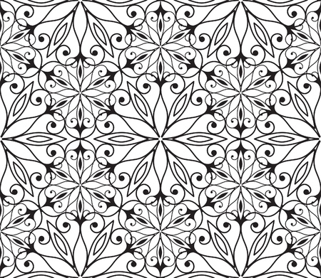 Seamless hexagonal pattern in arabian style