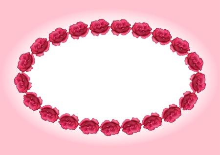 Cuadro con rosas, ilustración para desing