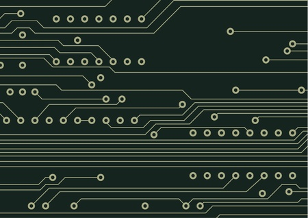 Fragment of circuit board, technologic background Stock Vector - 11895760