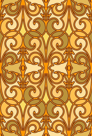 Gold seamless pattern in arabic style
