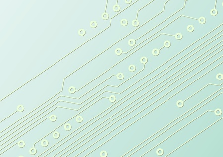 Fragment of circuit board, technologic background Vector