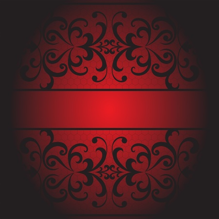 Lacy red background, seamless decorative lace pattern Vector