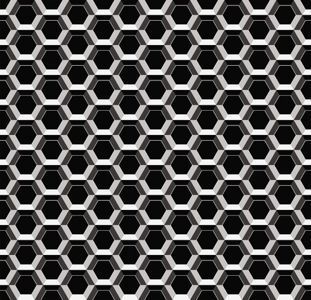 Abstract metal pattern, seamless cellular texture Vector