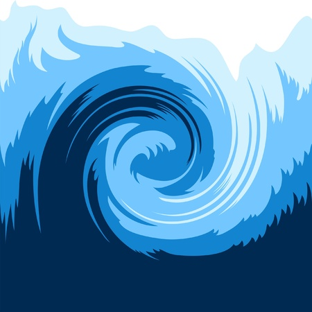 Ocean wave seamless background Vector