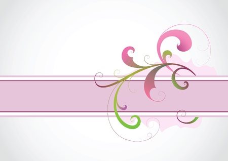 floral swirls: Abstract floral background