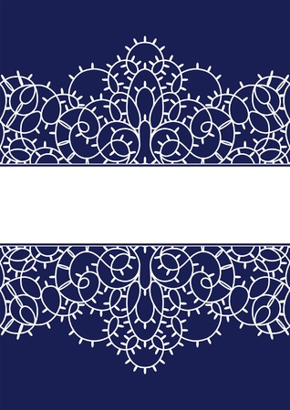 Seamless lace stripe background Vector