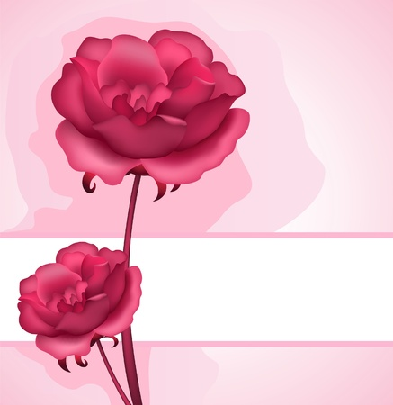Decorative background with roses Stock Vector - 12484914