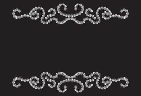 Twisty dotted pattern on black background Vector