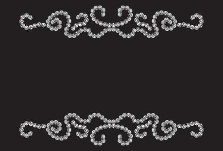 snaky: Twisty dotted pattern on black background Illustration