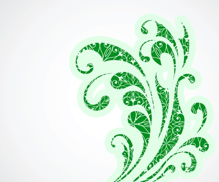 green swirl: Abstract floral background for summer design