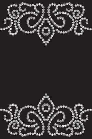 Dotted pattern on black, seamless backgroundD Vector