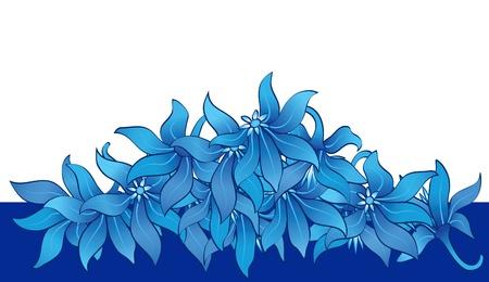 fresh flowers: Heap of flower heads, floral border, element for design