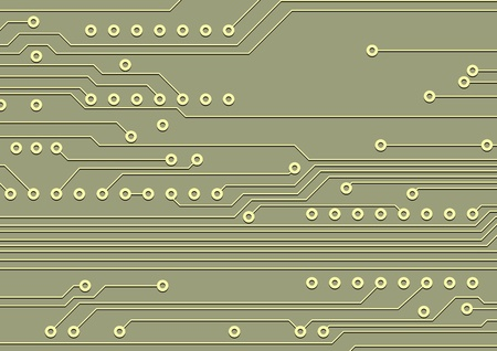 Fragment of circuit board, technological background Vector