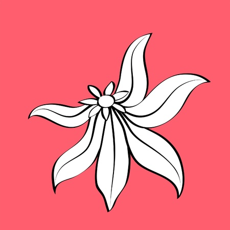 Cartoon flower, hand-drawn element Vector