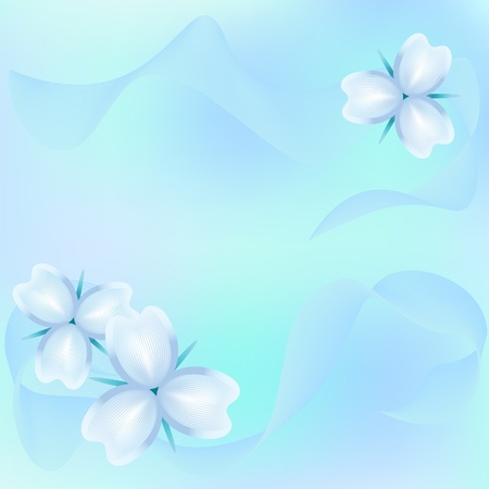 Abstract floral background in light colors Vector