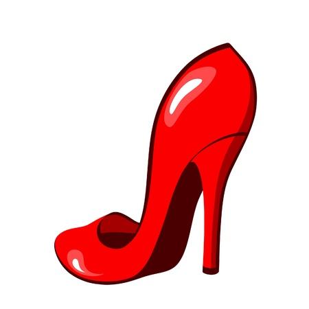 stiletto: Elegant female shoe isolated on white