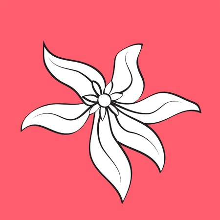Hand drawn flower, element for design Stock Vector - 13472209