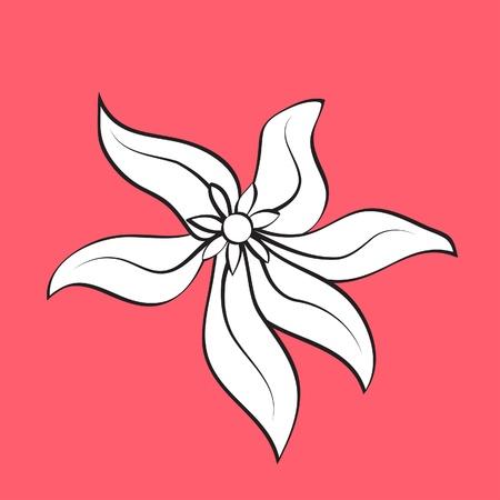 Hand drawn flower, element for design Stock Vector - 13472209