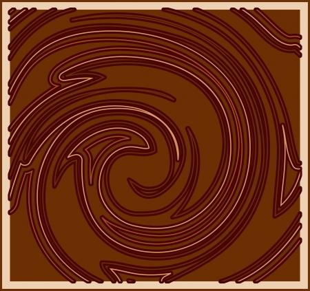 Decorative chocolate background Vector