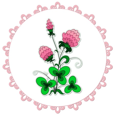 Lacy doily with clover flower pattern Stock Vector - 14284065