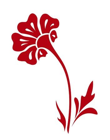 Abstract fiore, disegnati a mano elemento di design Archivio Fotografico - 14581219