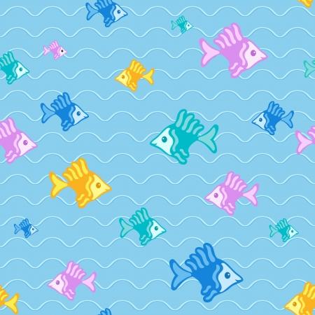 pez abstracto: Resumen de fondo de pescado, sin patr�n Vectores
