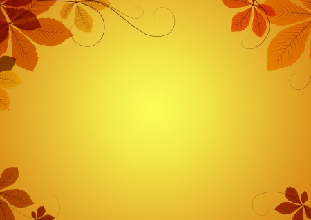 thanksgiving: Abstract autumn background with chestnut leaves Illustration