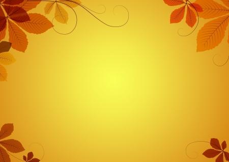 accion de gracias: Resumen de fondo de oto�o con hojas de casta�o Vectores