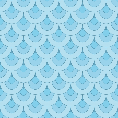 fish scales: Blue scale, abstract seamless pattern
