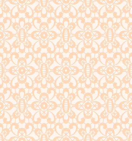 tatting: Lace background, seamless texture in light color Illustration