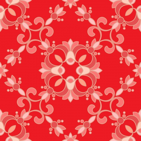 Vintage red seamless pattern Vector