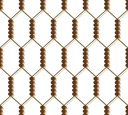 Geometric seamless grid pattern