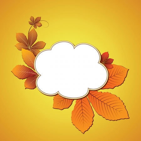 Autumn background with chestnut leaves Vector