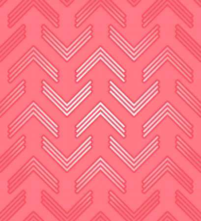 Red corners, abstract seamless pattern Vector