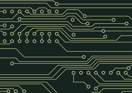 Closeup of circuit board, technological background Vector