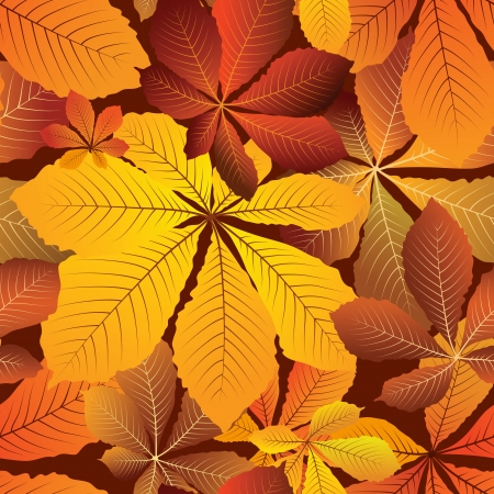 Autumn leaves, colorful seamless pattern Stock Vector - 15048404