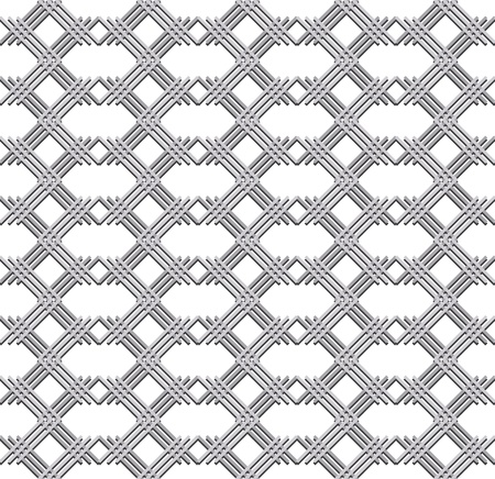 grille: Abstract metal texture, seamless pattern on white