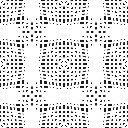 Crochet texture, white seamless pattern Vector
