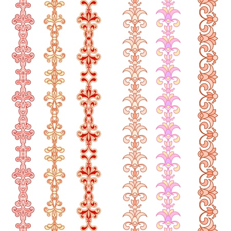 Set of seamless floral borders Stock Vector - 15164508
