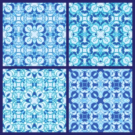 Set of abstract seamless patterns Stock Vector - 15311633