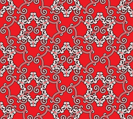 Red seamless pattern, abstract background Vector