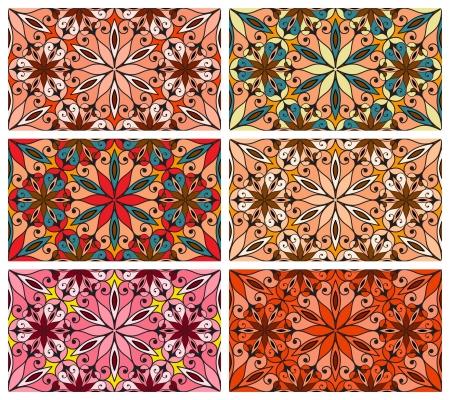 repeatable texture: Colecci�n de dibujos abstractos sin fisuras Vectores
