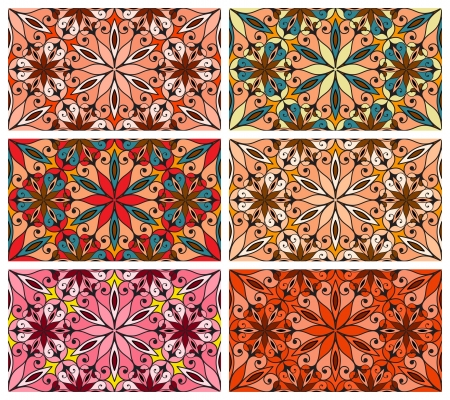 Collection of seamless abstract patterns Vector