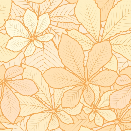 Autumn leaves, light seamless pattern Vector